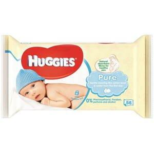HUGGIES Pure single detské čistiace obrúsky 56ks