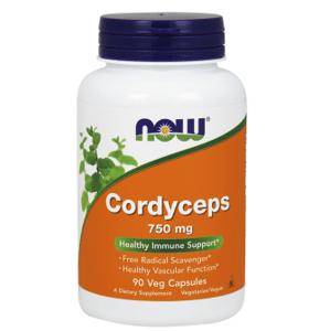 Now Foods Cordyceps Lapač voľných radikálov + imunita 750mg 90 veg kaspúl