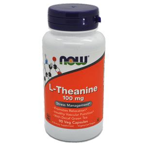 Now Foods L-Theanine Stresový manažment 100mg 90 veg kapsúl
