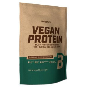 BiotechUSA Vegan Protein vanilkový koláč 500g