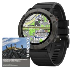 Garmin GPS športové hodinky fenix6X PRO Sapphire, GrayDLC/Black Band