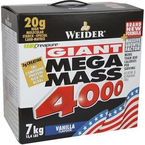 Weider Gainer Giant Mega Mass 4000, 7000g - vanilka