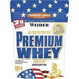 Weider Protein Premium Whey, 500g - jahoda-vanilka