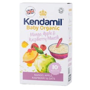 Kendamil BIO/organická ovesná kaše s ovocem (mango, jablko, malina) 150g