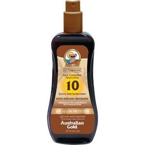 Australian Gold Spray Gel + Bronzer SPF10 237ml
