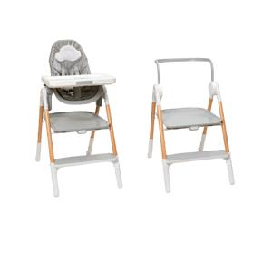 SKIP HOP Stolička jedálenská/schodíky 2v1 Sit To Step šedo-biela 1ks