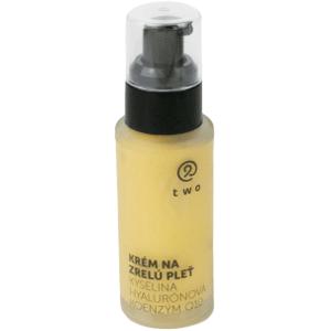 Two cosmetics Krém pre zrelú pleť s kyselinou hyalurónovou a koenzýmom Q10 Two 50ml