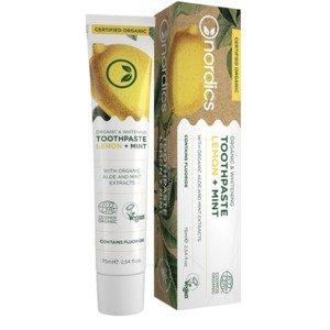 Nordics Bio bieliaca zubná pasta s citrónom a mätou 75ml