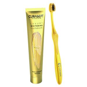CURASEPT LUXURY Bieliaca zubná pasta + kefka gold lux