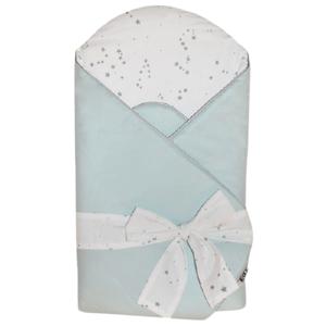 EKO Zavinovačka bavlnená s potlačou a kokosovým vnútrom Mint 75x75cm