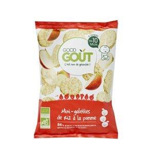 Good Gout BIO Mini ryžové koláčiky s jablkami 40g