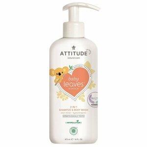 Attitude Detské telové mydlo a šampón (2v1) s vôňou Hruškovej šťavy Baby leaves 473ml