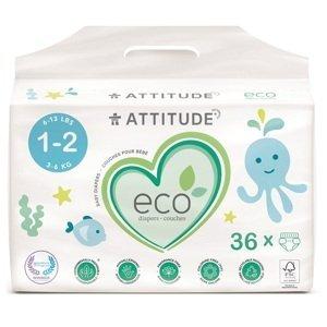 Attitude Detské plienky Mini biologicky rozložiteľné 36ks