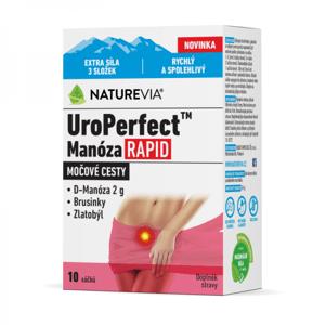 Swiss Naturevia UroPerfect Manóza Rapid vrecúška na prípravu nápoja 10 ks