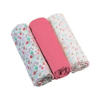 BabyOno Plienky mušelínové Super soft ružové 3ks