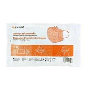 LIVSANE Ochranná maska na jedno použitie 10ks