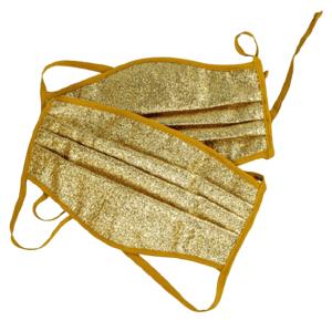 Ochranná polomaska s 3 vrstvová, zlatá,veľká,2ks