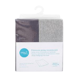 CEBA Poťah na prebaľovaciu podložku 50x70-80cm Light Grey Melange+Dark Grey 2ks