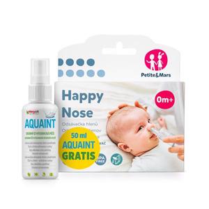 Odsávačka nosných hlienov na vysávač Happy Nose Petite&Mars 0m+50ml Aquaint gratis