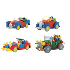 Disney Auto s obľúbeným hrdinom - Mickey, Scrooge, Donald, Goofy, mierka 1:43 1 kus