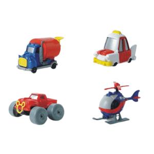 Disney Autíčko z Káčerova, Séria 3 - nákladné vozidlo, MickeyB, taxi, vrtuľník 1 kus