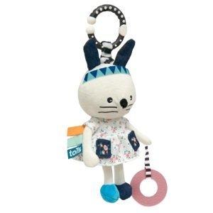 Tots Plyšová hračka so sadou samolepiek s písmenami, Zajačik 1ks