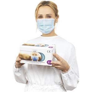VITAMMY MASK Jednorazové lekárske rúško 3-vrstvové s gumičkami typ II EN14683 / MDR,50ks