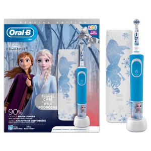 Oral B Elektrická zubná kefka Vitality D100 Kids Frozen II + Cestovné púzdro