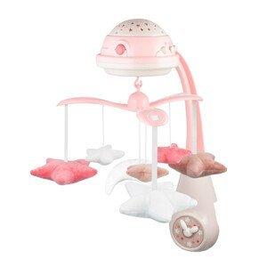 Canpol babies Elektrický hudobný kolotoč s projektorom HVIEZDIČKY ružový 1ks
