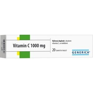 GENERICA Vitamin C 1000 mg tbl eff 20 ks