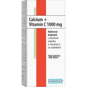 Generica Calcium + Vitamin C 1000mg 10 šumivých tabliet