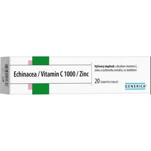 GENERICA Echinacea/Vitamin C 1000/Zinc tbl eff 20 ks