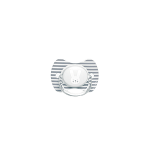 Suavinex Cumlík Premium Hygge - prúžky, sivá 6-18m