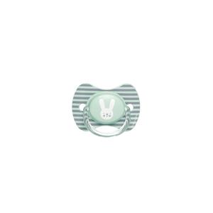 Suavinex Cumlík Premium Hygge - prúžky, zelená 6-18m