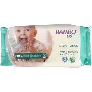 Bambo Nature Utierky vlhčené biologicky rozložitelné 50ks