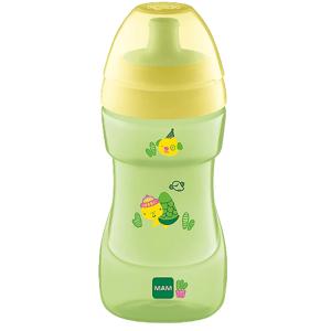 MAM Hrnček Sports Cup, žlto-zelená - různé druhy - náhodný motív, 12+m, 330ml