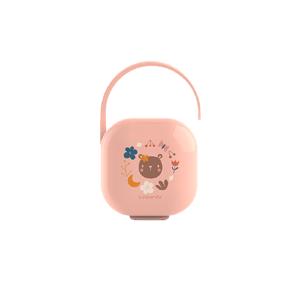 Suavinex Krabička na cumlík FOREST - ružová 1ks