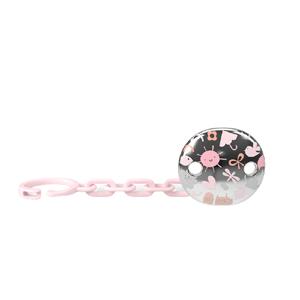 Suavinex Klip na cumlík Šperk MEMORY - Ružová 1ks