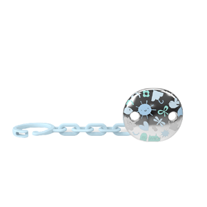 Suavinex Klip na cumlík Šperk MEMORY - Modrá 1ks