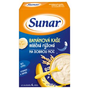 Sunar Banánová kaša mliečna ryžová na dobrú noc 225g