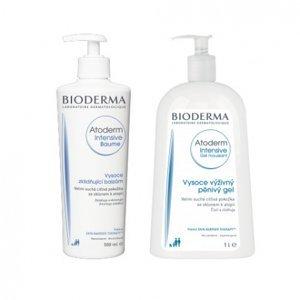BIODERMA Atoderm Intensive balík Baume 500 ml + Gel moussant 500 ml 1ks