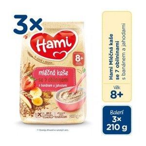 Hami mliečna kaša so 7 obilninami s banánom a jahodami (od ukonč. 8. mesiaca) 3x210 g