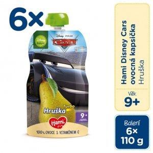 Hami Disney Cars ovocná kapsička Hruška pasterizovaný ovocný príkrm 6x110 g