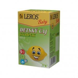 LEROS BABY Detský čaj Citrónik porciovaný 20x2g