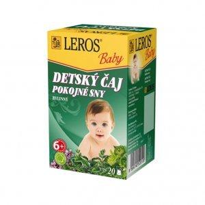 LEROS Baby Detský čaj Pokojné sny porciovaný 20x1,5g