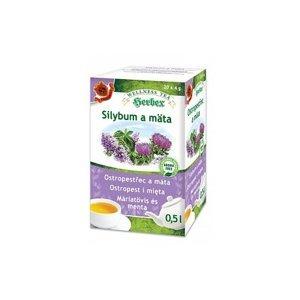 Herbex Silybum a mäta porciovaný čaj 20 x 4 g